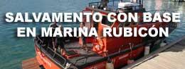 Base salvamento en Marina Rubicón
